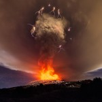 Mount Etna Lights up Sicilian Sky with Dramatic Eruption