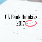 UK Bank Holidays in 2017