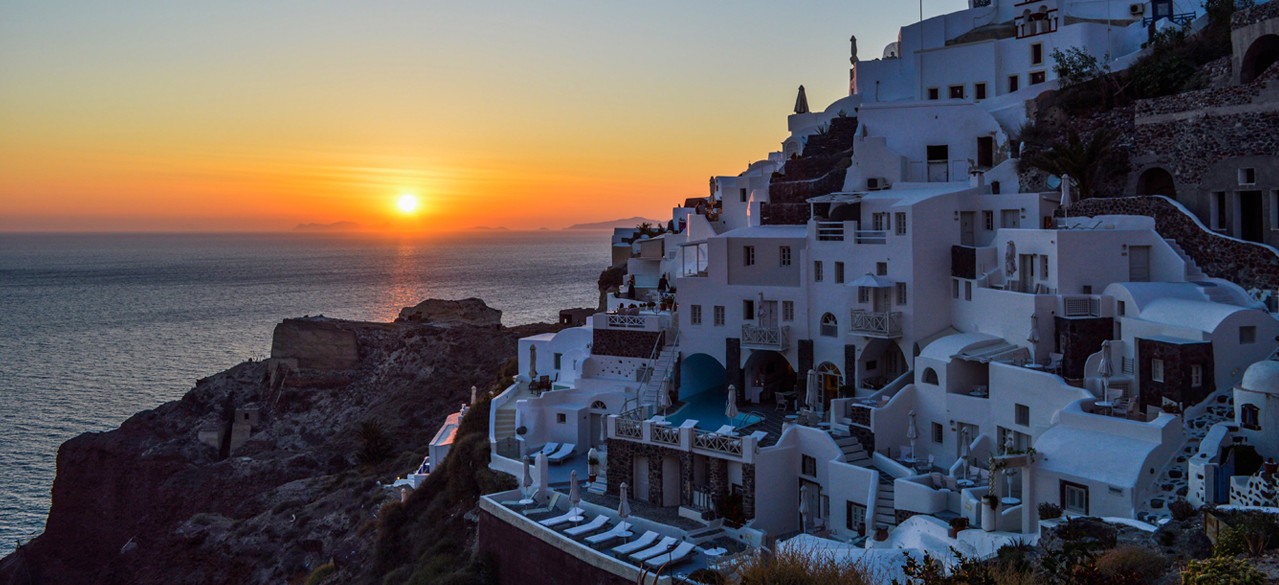 most beautiful sunset, travel Santorini