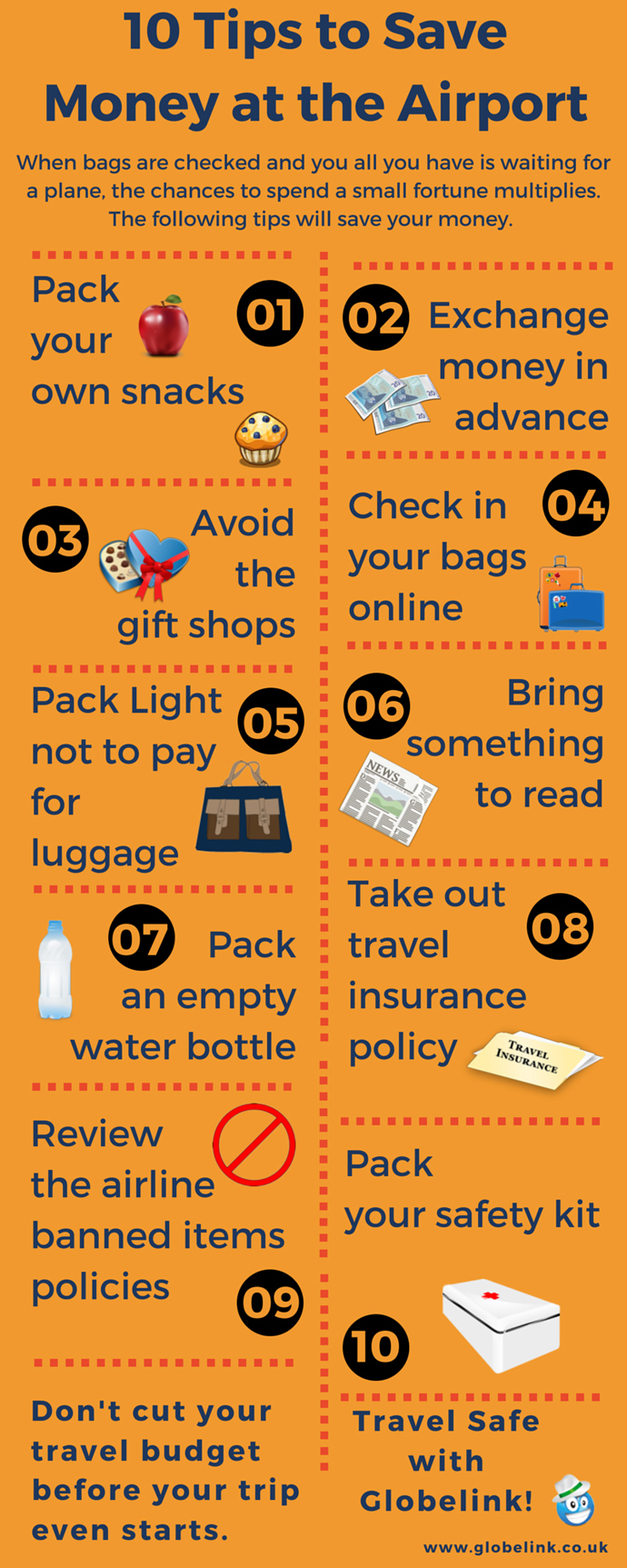 Tips to Save Money at the Airport