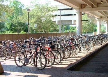 Bicycles Park in Japan