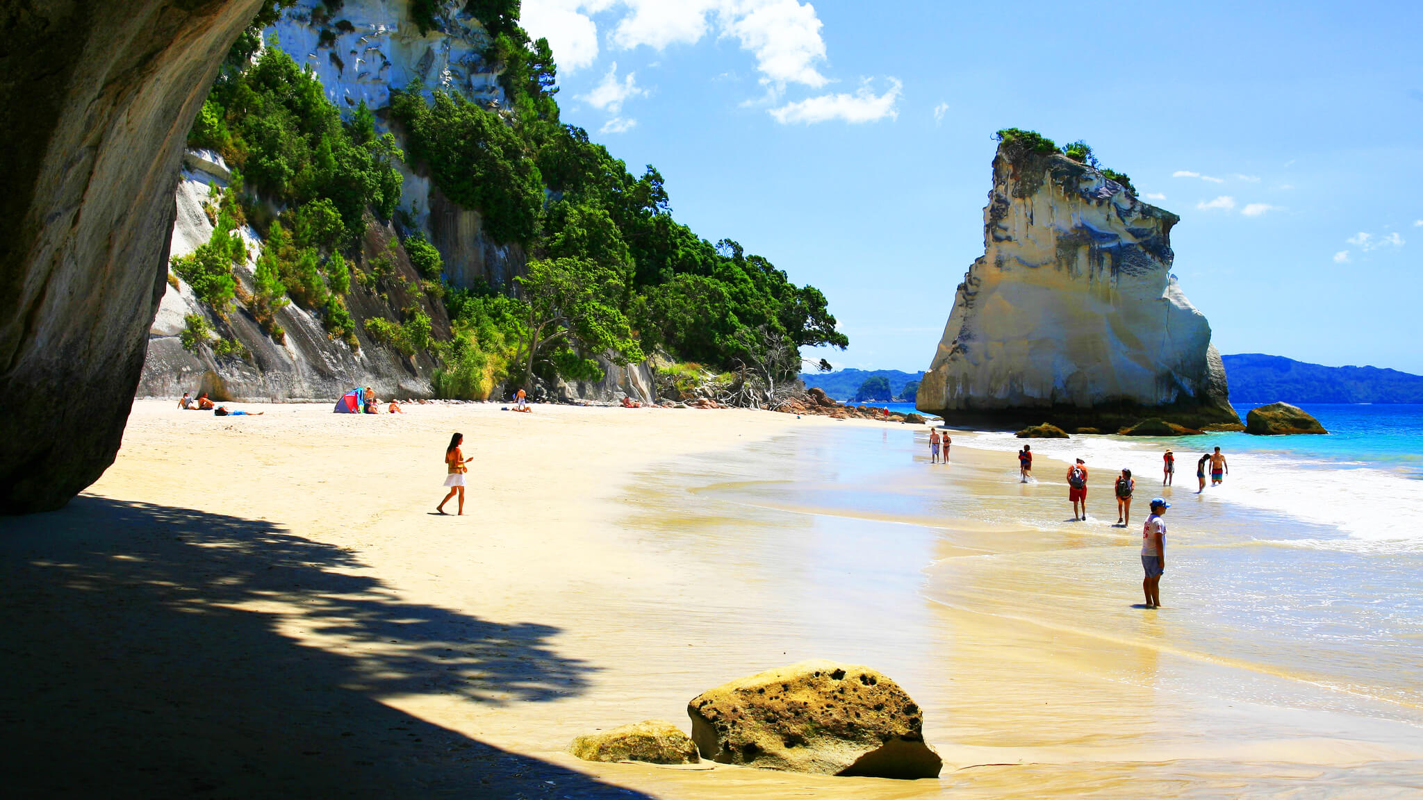 Coromandel, white sand beach