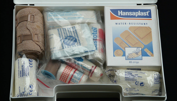 First-aid kit holiday
