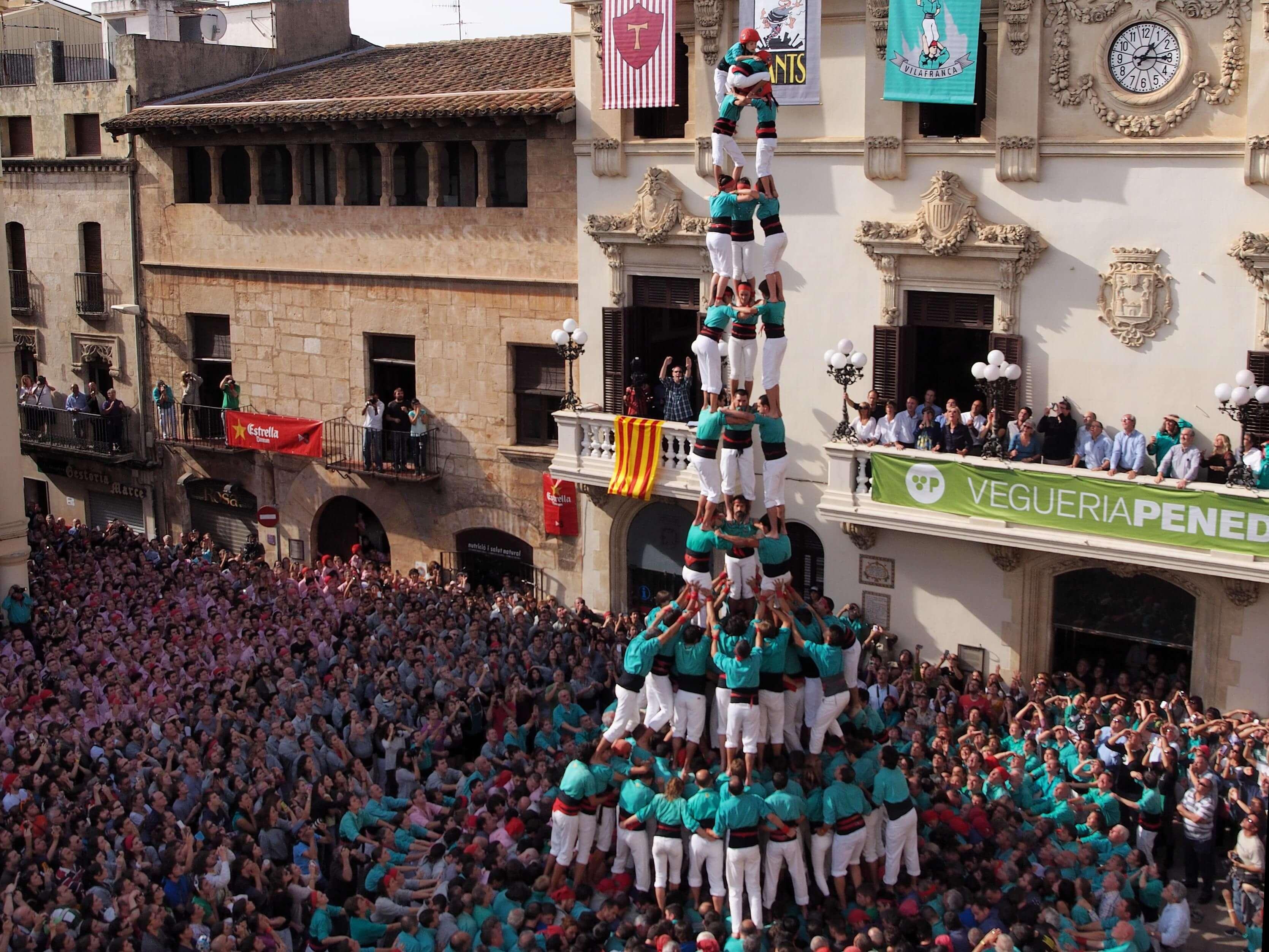 Human castle Spain