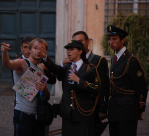 Tourists in IItaly
