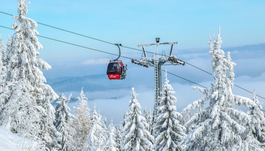 Skiing high