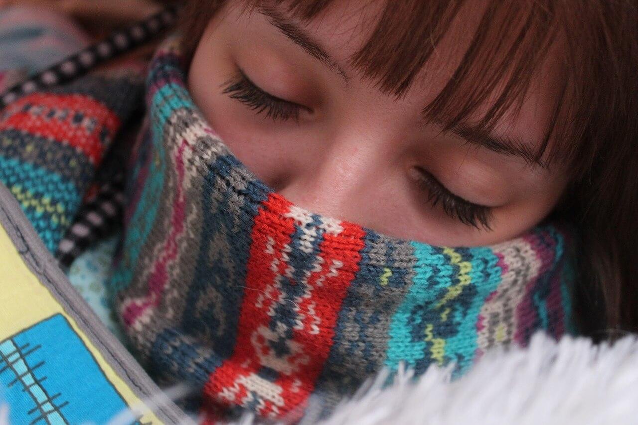 Sleeping well in winter