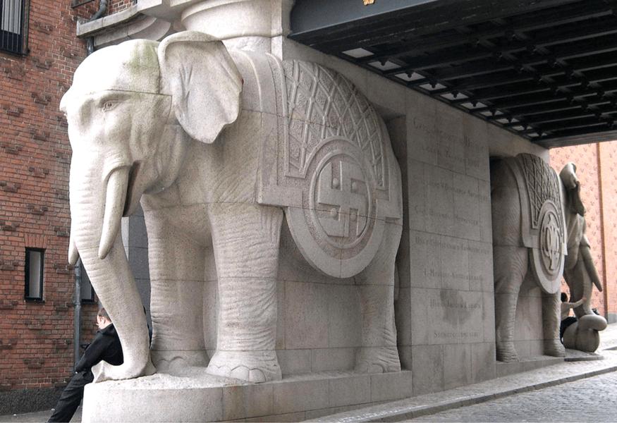 swastika Elephant Gate