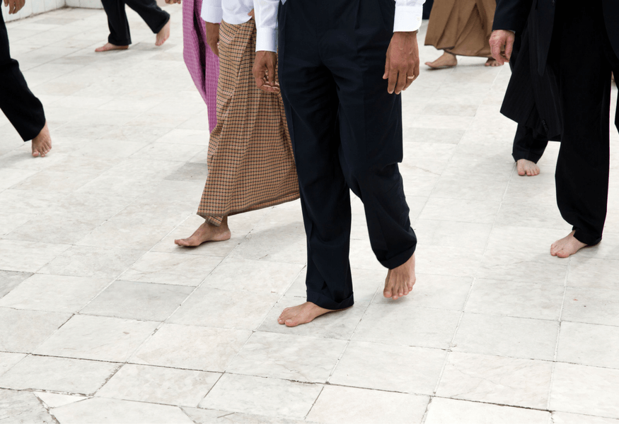 barefoot in Thailand