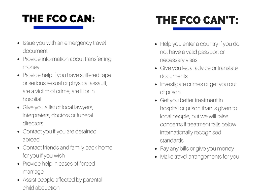 The FCO can and cannot