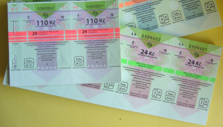 Tickets to Praha